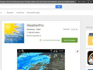 WeatherPro Playstore Screen 28-7-2015