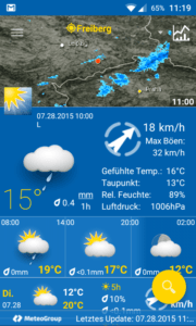 WeatherPro Screenshot 28-7-2015 Android 1