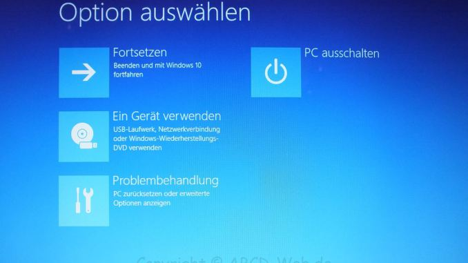 Windows 10 Screen Problembehandlung