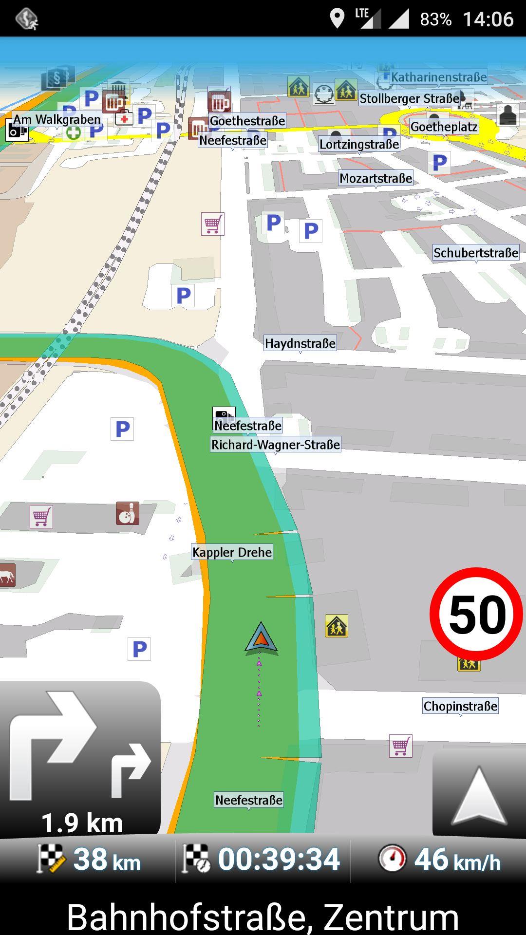 MapFactor GPS Navigation – Navigieren