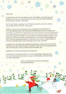 Weihnachtmannbrief 2016 Schreiben