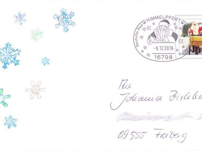 Weihnachtsmannbrief 2016 Brief